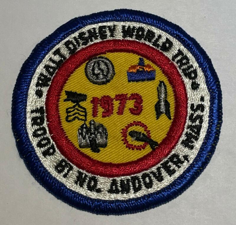 1973 Troop 81 Massachusetts Disney Trip Patch Boy Scout TK6