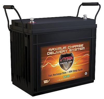 OPEN BOX VMAX SLR155 Solar Energy Storage AGM Battery for DM Solar Panels, 155Ah
