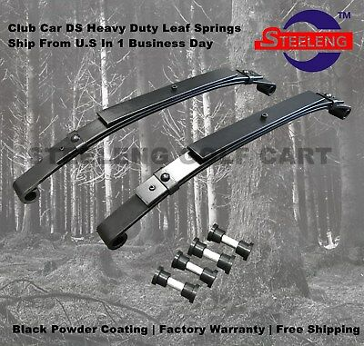 Heavy Duty Rear Leaf Springs for Club Car DS Golf Cart 1982+ (3 Leafs/Set of 2)