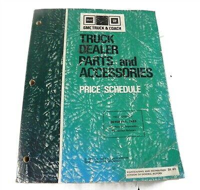 1983 GMC TRUCK & COACH TRUCK DEALER PARTS AND ACCESSORIES PRICE SCHEDULE