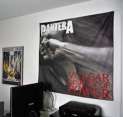 PANTERA Vulgar Display of Power HUGE 4X4 BANNER fabric poster tapestry flag