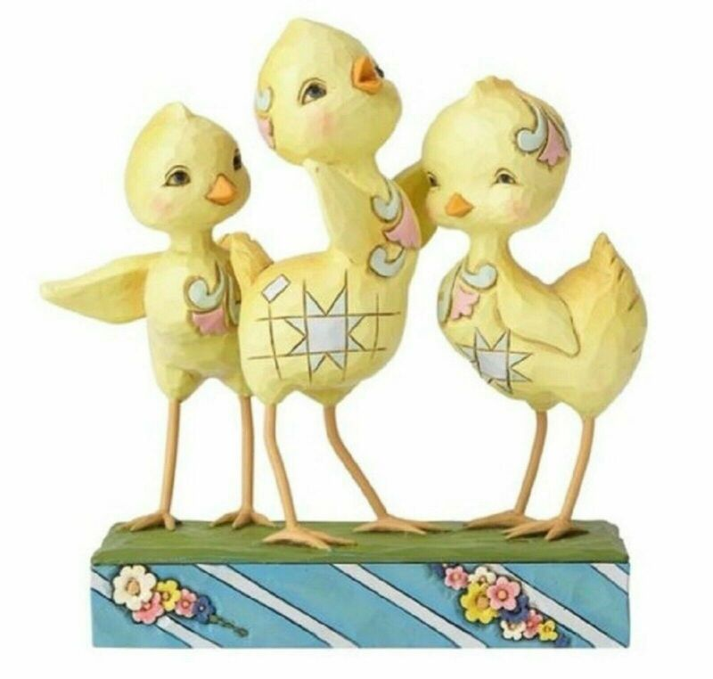 Jim Shore Easter Trio Of Chicks Hooray For Spring 6001077 MIB