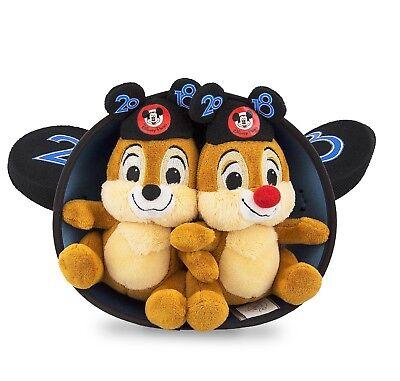 NEW Disney 2018 Chip and Dale Chipmunks Cute Ear Hat Plushies NWT ASAP Shipping - Chipmunk Ears