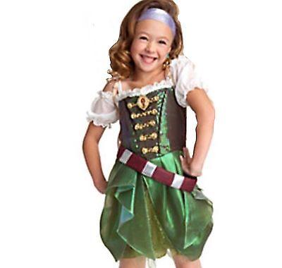 Tinkerbell Costume 4t (NWT DISNEY ZARINA TINKERBELL TINK PIRATE FAIRY COSTUME DRESS & SWORD GIRLS 4)