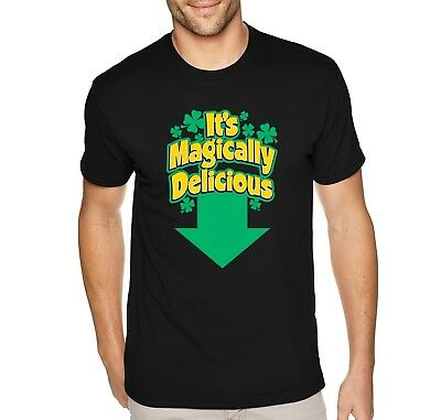 Mens Magically Delicious Funny St. Patrick's Day Leprechaun Pot Gold T-Shirt