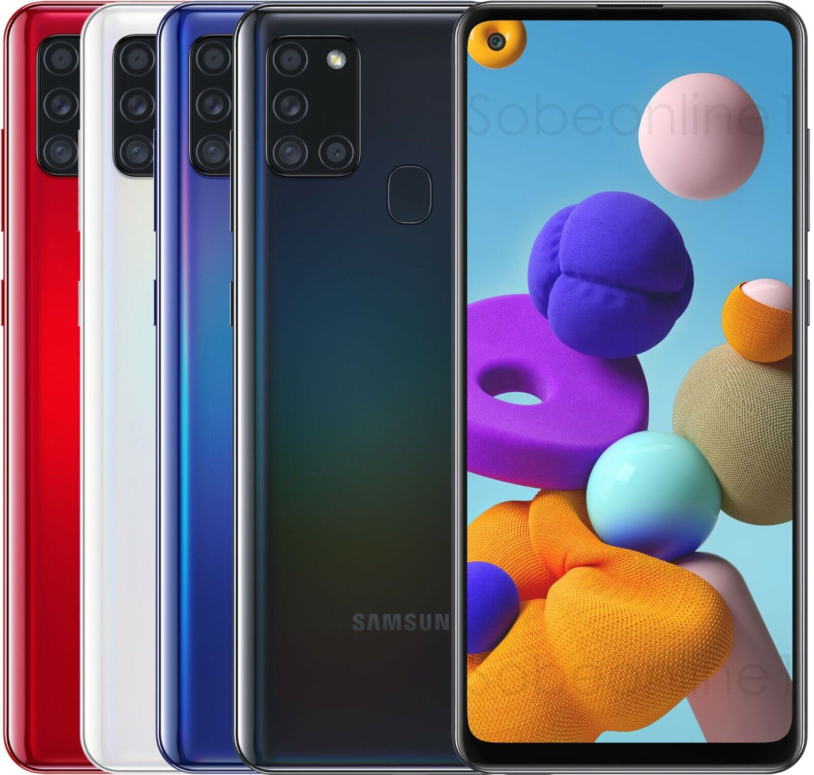 "Android Phone - Samsung Galaxy A21s 64GB 4GB RAM SM-A217M/DS (FACTORY UNLOCKED) 6.5"" Dual Sim"