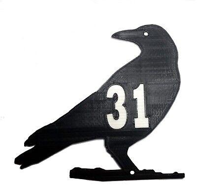 Crow Bird Silhouette House Door Number Plaque - Garden Gate Sign (0 to 999) ()