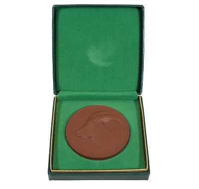 Medaille Für Verdienste Tierpark Karl-Marx-Stadt DDR Steinzeug Meissen um 1980