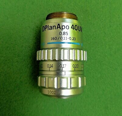 Olympus Microscope Objective D Plan Apo Uv 40x0.85 Wcollar For Bhch Etc.