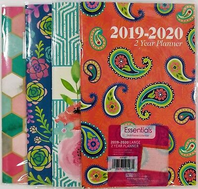 2019 -2020 Two Year Monthly Planner Calendar 5 X 8 Colors May Vary