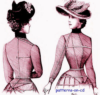 Victorian DRESSMAKER costume jacket cape pattern making