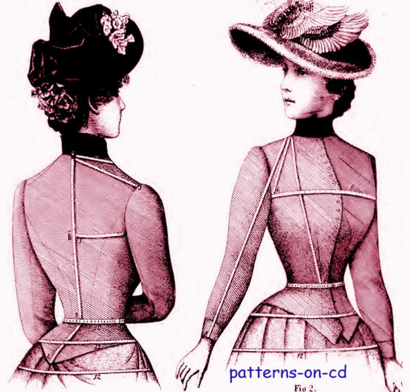 Victorian DRESSMAKER costume jacket cape pattern making