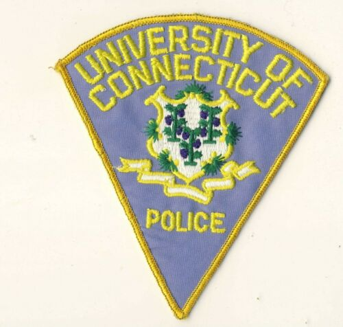 """University of Connecticut CT 5.75"""" Police Patch"""
