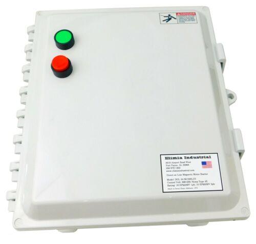 Elimia DOL Motor Starter 230V Coil 45-65 Amp 10 HP 1 Phase NEMA 4X 240 Volt UL