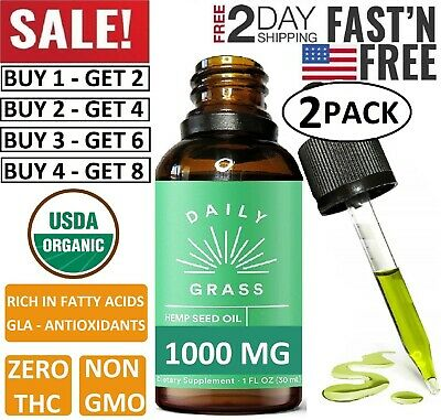 Best Hemp Oil Drops for Pain Relief, Stress, Sleep (PURE and ORGANIC) - 1000 (Best Oil For Cannabis)