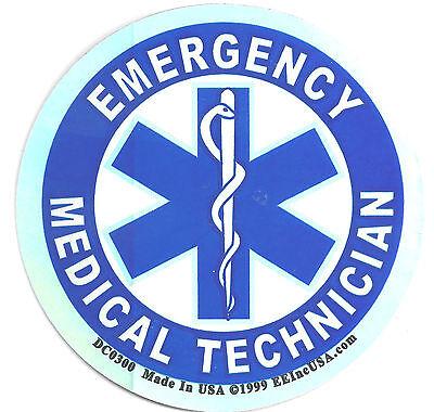 EMERGENCY MEDICAL TECHNICIAN - FOIL STICKER