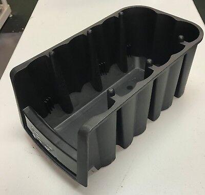 12 Akro Mills storage bins 6 5/8 W, 11 7/8 D , 5 H BLACK