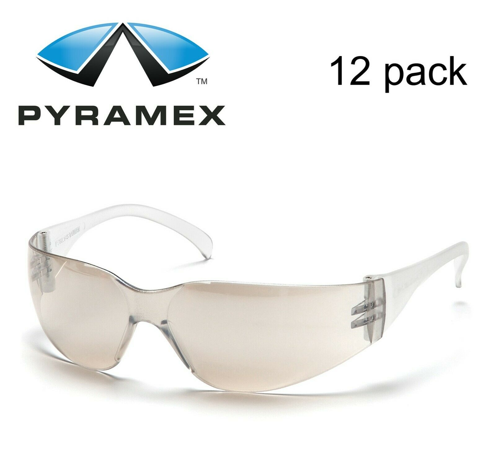 Pyramex Intruder S4180S I/O MIRROR Safety Glasses Work Eyewear 12 Pair/1Dozen Business & Industrial