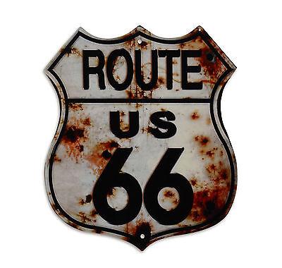 """Blechschild """"Route 66"""" Verkehrsschild USA Highway Harley Biker Diner 35x30cm Neu"""