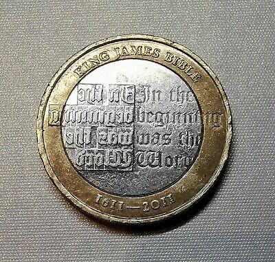 King James Bible 2 Pound Coin 2011 £2 Rare Collectable