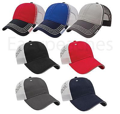 REEBOK - UNISEX Golf TRUCKER CAP, Tennis, Baseball Hat, MESH BACK Adjustable