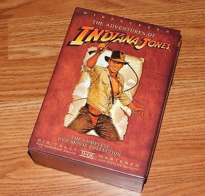 Adventures of Indiana Jones DVD Trilogy Box Set Like New WS + Bonus