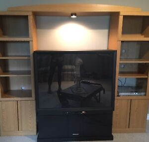 Big Screen TV and cabinet