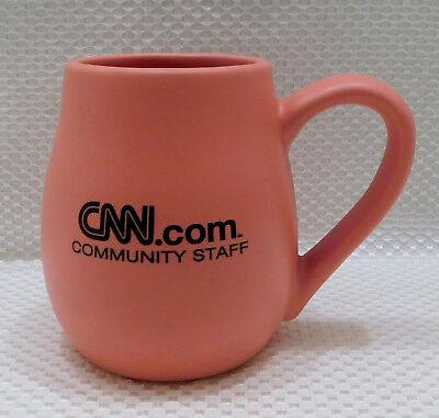 1999 CNN.com Community Staff 20 oz Large Coffee Tea Mug Cup Peach Ceramic RARE (Cnn Com)