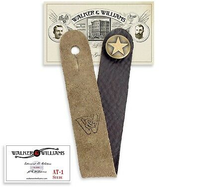 Walker & Williams AT-1 SB Suede Acoustic Guitar Strap Button Headstock Adaptor