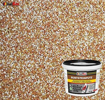 Mosaikputz Buntsteinputz BP 40 (braun, weiss, gelb) 15 kg Fertigputz Sockelputz (15 Stein)