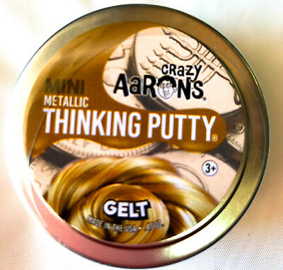 Gelt Metalic Holiday Crazy Aarons Thinking Putty Christmas   47Oz 24K Gold Mini