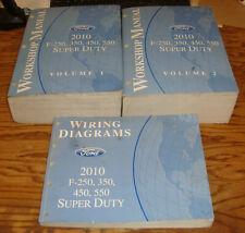 2010 Ford F-250 350 450 550 Shop Service Manual 1 & 2 ...