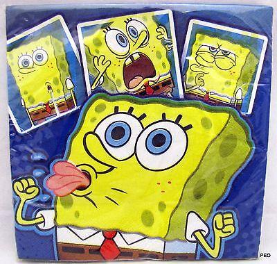 Sponge Bob Luncheon Napkins 16 Count Spongebob Birthday Party - Luncheon Napkins