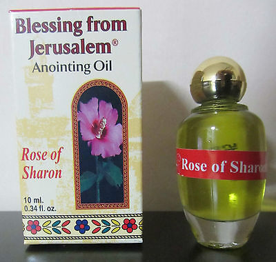 Anointing Oil Rose Of Sharon 0 34Oz From Holyland Jerusalem