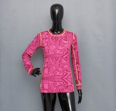 KARI TRAA Pink T-shirt Top Activewear Running Fitness Base Layer M
