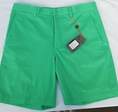 Fennec Super Soft Cotton/Spandex Flat Front Casual Shorts NWT Augusta Green SALE