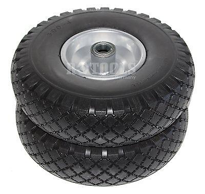 2x Sackkarrenrad Rad Reifen PU Vollgummi für Sackkarre Bollerwagen 16mm