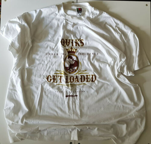 DJ QUIK - UNDER THA INFLUENCE PROMO T SHIRT XXXL WHITE VINTAGE 2002 HIP HOP TEE