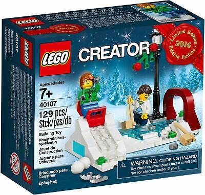 NEW LEGO Creator WINTER SKATING SCENE Holiday Ice Skate Set 40107 FACTORY SEALED
