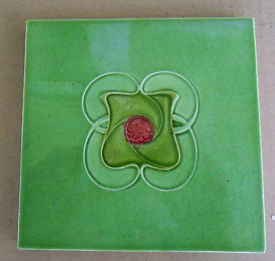 """Original  English  Art Nouveau tile , c1908 6""""x6""""Tile 1707"""