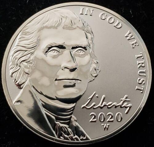 2020-W Reverse Proof Jefferson Nickel from West Point Mint in Original Packaging
