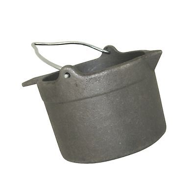 Cast Iron Lead Pot Melting Bullet Casting Metal Mold Smelting Furnace Coal 10 Lb