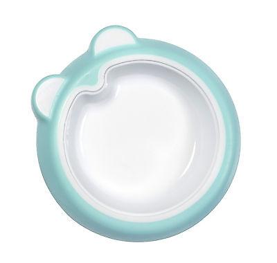 Badabulle Rutschfester Teller mit schrägem Boden BPA frei blau