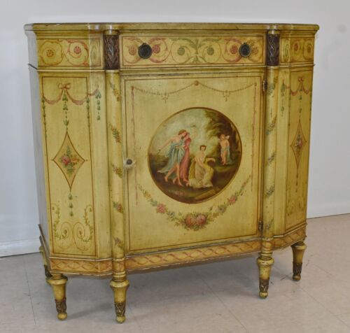 French Style Hand Painted Commode Irwin Furniture
