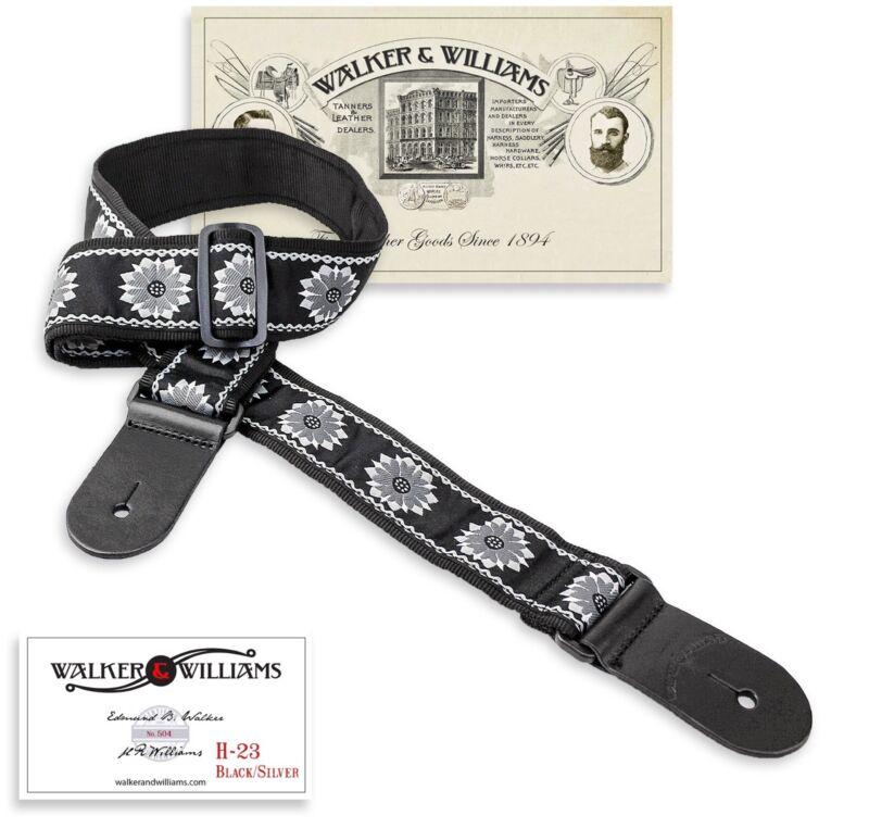 Walker & Williams Vintage Series H-23 Tapestry Woven Guitar