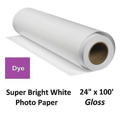 Super Gloss Inkjet Photo Paper Dye-Based Ink (HP Canon Epson Encad) 24