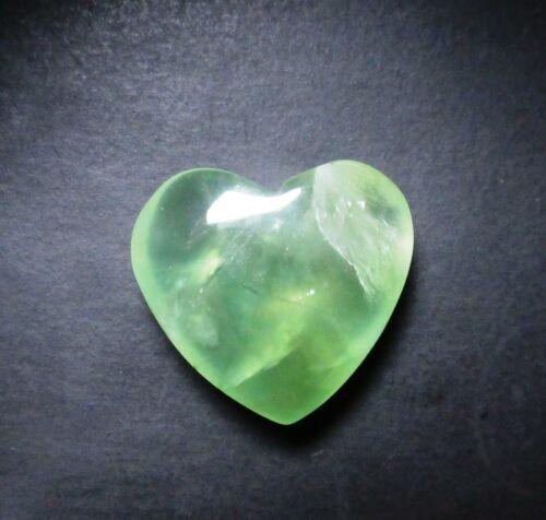 Prehnite Cabochon Heart Smooth Briolette 28.40 ct Natural Loose Gemstone G 3728