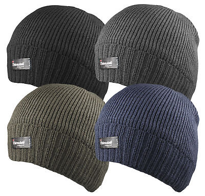Fleece Walking Hat - Mens Thinsulate Thermal Insulation Walking Hiking Fleece Lined Beanie Hat HAI704