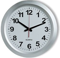 Large railway station style wall clock 38cm diameter large Numerals Easy to Read