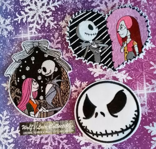 Nightmare Before Christmas SALLY And Jack 3 embroidered PATCHES New smoke-free